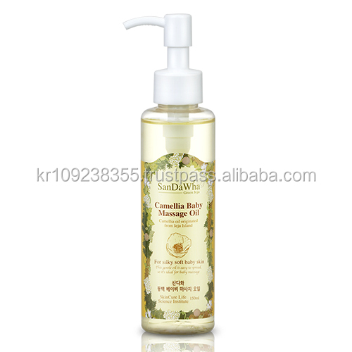 SanDaWha Korean Natural Skin Care from Jeju Island, Natural Camellia Baby Massage Oil