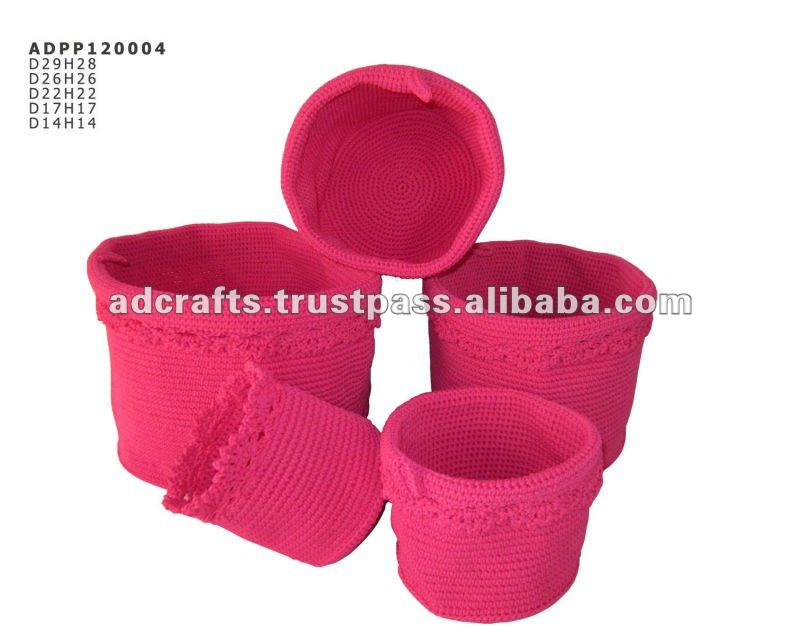 Wholesale PP crochet basket collection