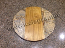 Marble & Wood Chopping Block Cheese Board Cutting Board Serving Tray Placemats Trivets