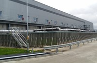 Biofilter industrial plant for odour treatment with bacteria technology