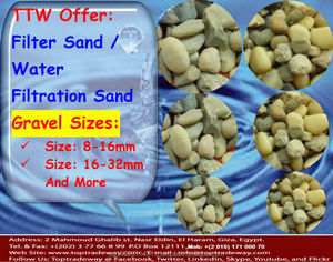 Filtration silica sand /gravels to optimize the performance of air scour potable water filters and tertiary filter systems