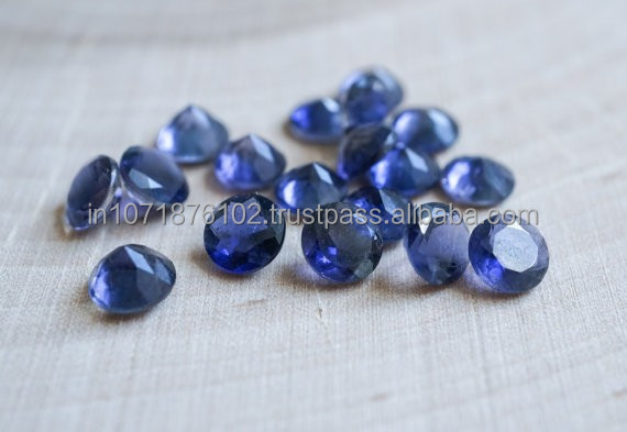 Wholesale price AAA Quality Loose Gemstones Blue Corundum Loose Round cut Gemstone
