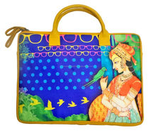 2015 Hot Sale Trendy Collection Depicting Indian Culture Vibrant Digital Print Attractive Laptop Bag/Beach Bag for Ladies