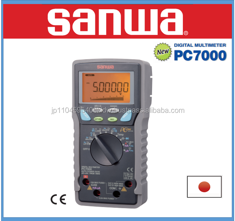 High precision and Easy to use Clip lead Sanwa multimeter at reasonable prices