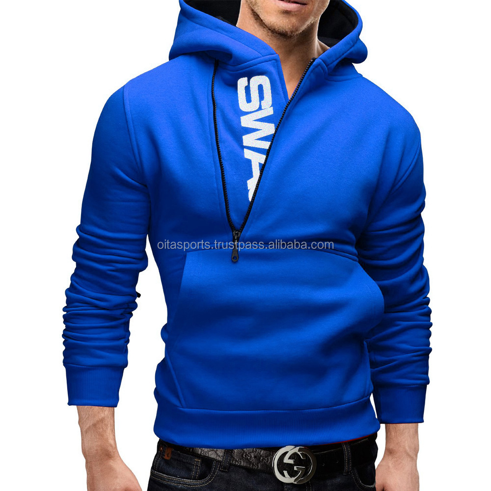 Royal Blue / White 2016 famous brand fashion men hoodies, long sleeve sport Pullover hoodies, hip hop men hooded sweatshirt