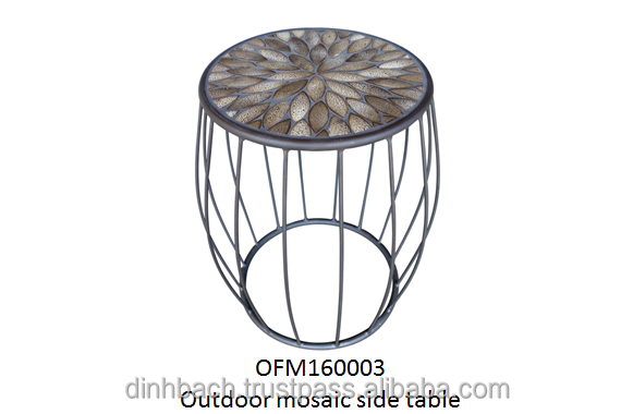 Vietnam outdoor mosaic side table, Vietnam outdoor furniture, mosaic furniture