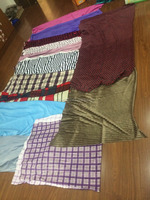 Stock lot poly velour fabric