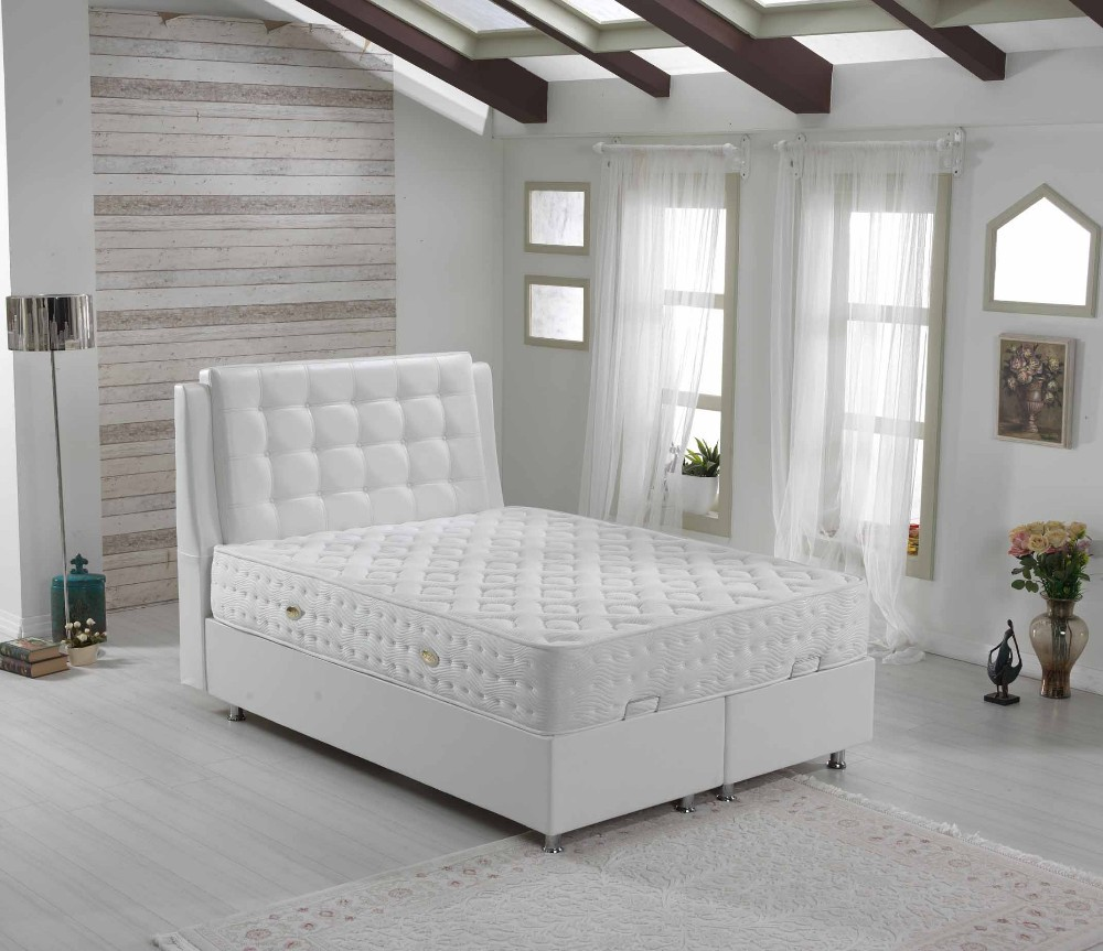 Upholstered Mattress Bed Set Paradise White - Jozy Mattress | Jozy.net