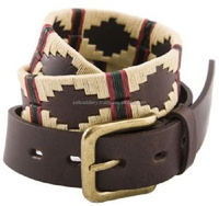 Leather Belt With Thread Design