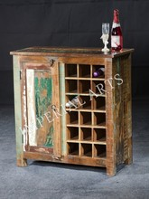 ANTIQUE RECYCLE WOOD WINE BAR, FOR HOME FURNITURE