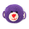 Yarn Crochet Teddy Coin Purse Handmade from Thailand - Purple