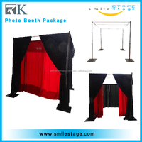 Factory direct stage decor pipe and drape photo booth package