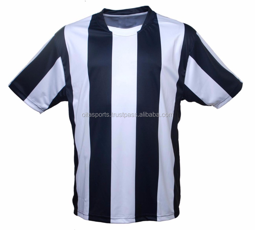 Black t shirt with white stripes - Printed The Black And White Vertical Stripes Soccer Jersey Customized Sublimation Soccer Jersey Buy Cheap Soccer Jerseys Bulk Soccer Jerseys Striped