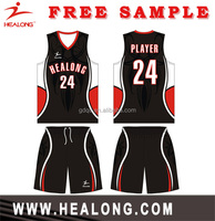 2015 new style basketball singlets basketball uniform design
