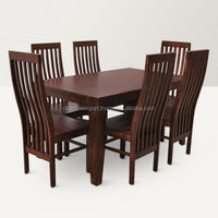 Bournron Six Seater Dining Set Walnut For apartments hot sale living room Luxury cheap wholeselling handmade Traditional