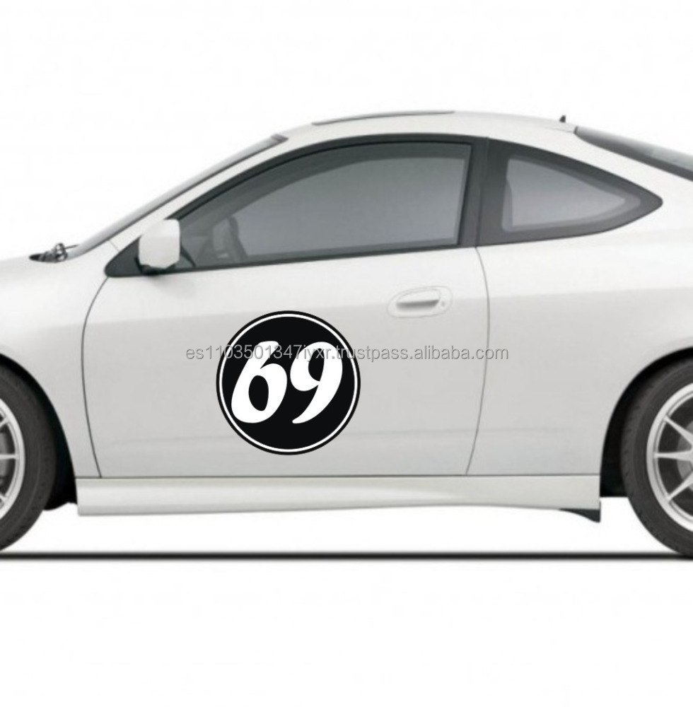 2 x Racing Numbers CUSTOM 30 cm Tuning CAR STICKER DECAL MADE IN GERMANY Decals Pegatina Aufkleber