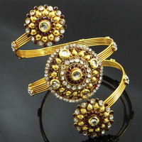 Traditional Indian Wedding Bridal Upper Arm Jewelry Armlet Kundan Bracelet Gift For Her- ARM399