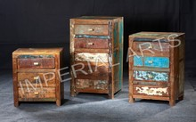 INDIAN FURNITURE RECYCLE WOOD DRAWER CHEST