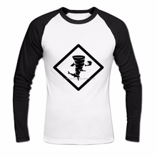 Men's Shark Tornado Long Sleeve Baseball Shirt XXXL White
