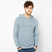 Custom mens light blue without pocket hoodie