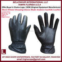 Winter Dressing Cowhide Leather Gloves