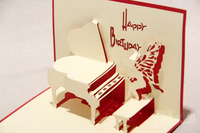 pop up Happy birthday greeting card