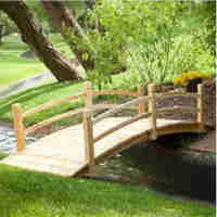 Wooden Bridge (Pine/Cedar) 96L x 29W x 19H inches