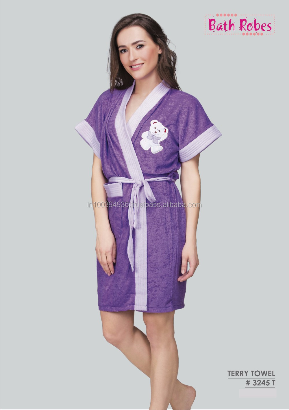 She'n'She Premium Teddy Bath Robe #3245T