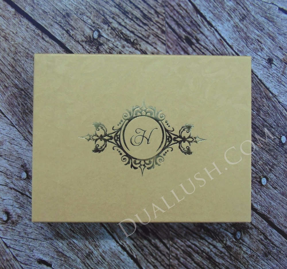 Mailing Box For Wedding Invitations With Hot Stamp Foil