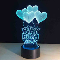 Customize Your Own Logo 3D Visual LED Magical Small Table Lamp Night Light