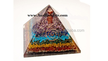 Wholesale Of Orgone Mix Gemstone Orgone Pyramid : Orgone Pyramid With Crystal Point