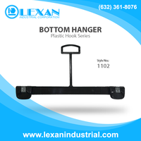 "1102 - 12"" Plastic Grip On Hanger with Plastic Hook for Bottoms, Pants, Skirts, Shorts (Philippines)"