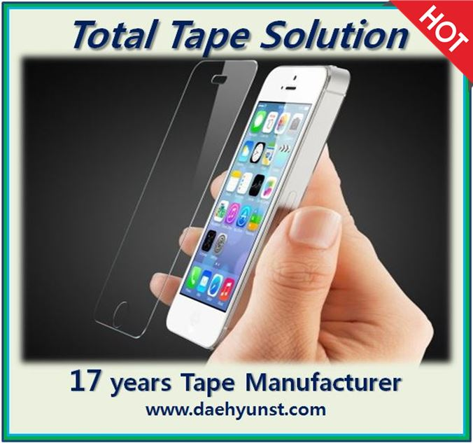 AB double sided anti-static korean tape/film for Smartphone Tempered Glass Screen Protector (roll, die cut)