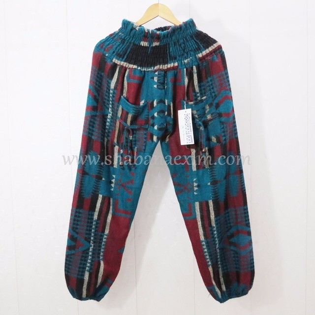 100% Acrylic Knitted Trouser Men Woolen Winter Pants