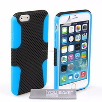 Combo Tough Mesh Case for iPhone 6 and 6s Blue