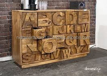 Industrial & vintage solid wood ABCD design chest of 26 Drawers