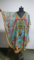 BLACK Batik Cotton Caftan Kaftan Dress 1X 2X 3X 4X 5X 18X