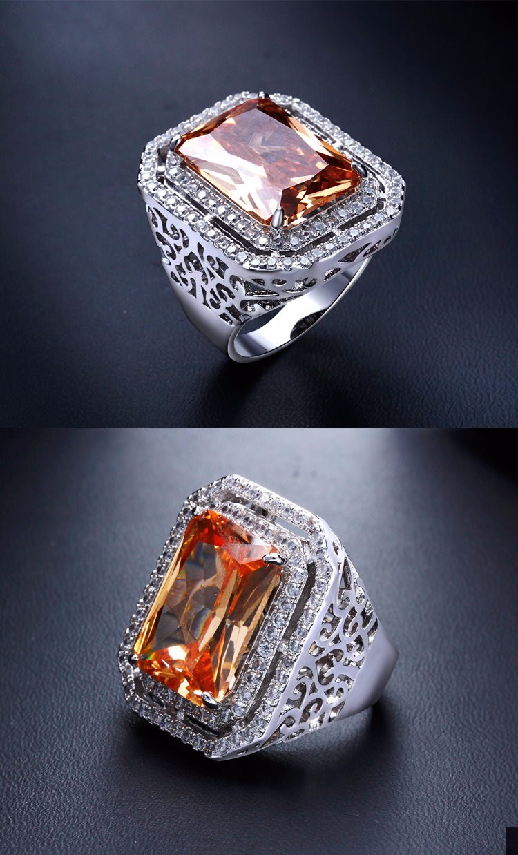 Zircon jewelry ring