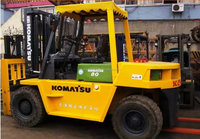 Good quality used 8 ton Komatsu forklift FD80 for sale,8ton/10 ton portable container transport lifting all terrain forklift