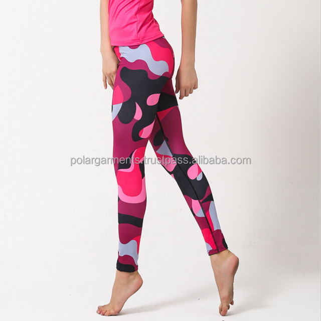 Camouflage women tights / Compression yoga pants