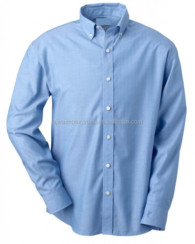 Hot design long sleeve LOVELY BLUE dress shirts for men