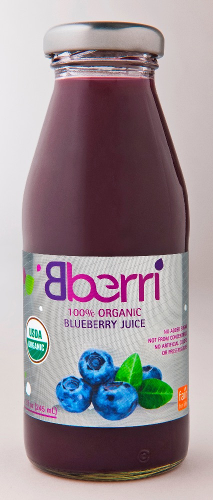 Bberri 100% Organic Blueberry Juice