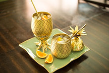 Gold Pineapple shaped mug, brass gold Pineapple Moscow Mule Cup