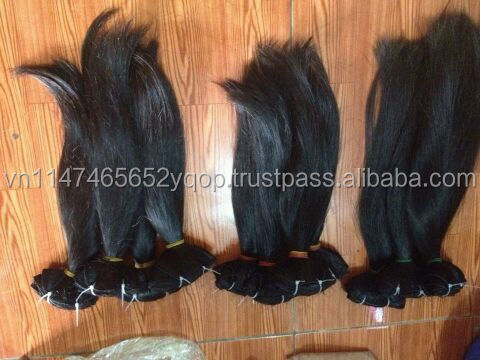 price reasonable for double drawn real natural straight hair weaving