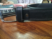 Black Leather Belt Pure Cow Hide