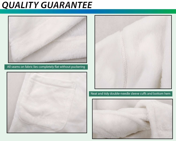 OEM Supplier Low MOQ tailor collor warming fleece White bathrobe