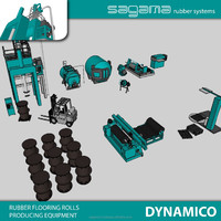 "Factory price ""SAGAMA Dynamico"" Russian rubber flooring cover producing machine"