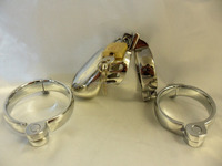 Small Steel Chastity Device Interchangable 3 Rings Bondage Restraint Steel Sex Toys