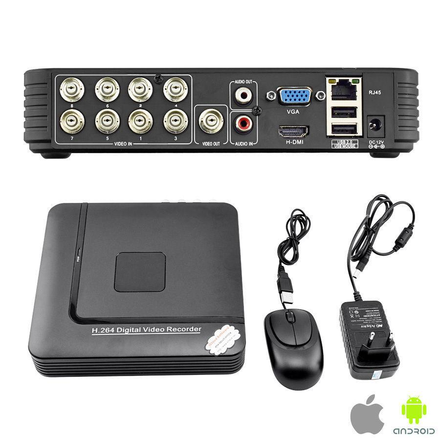H.264 8CH Mini CCTV DVR Real time Recorder P2P Cloud HDMI Home security system N