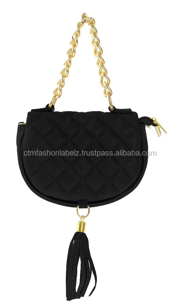 Made in Italy clutch bag in genuine leather quilted matelasse black
